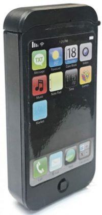 FLCL1. Smart Cell Phone Design Plastic Flask (8PC)