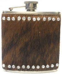 FLHAIR Stainless Steel Flask Beaded Animal Hair Design (3PC) *