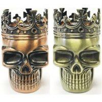 GR3KINGSK. King Skull Design 3-Part Metal Grinder (12PC)