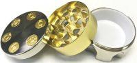 GR3BULLGG. Gold Bullet Design 3-Part Metal Tobacco Herb Grinder (12PC)