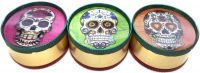 GR3CSR3D 3-D Candy Skull Designs On Rasta Grinder 3 Part Metal Grinder (12PC)