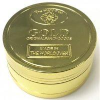 GR3GOLD Metal Grinder W/ Scoop Gold Coin Design (12PC)