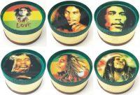 GR3RASTAB. Holographic Rasta Designs 3 Part Metal Tobacco Herb Grinder (12PC)