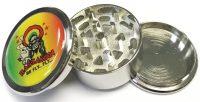 GR3RASTASM Small Metal Grinder Assorted Rasta Designs (12PC)