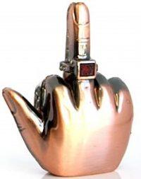 1282. Middle Finger Design Novelty Lighter, NO SOUND, (12PC)