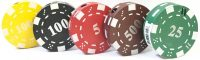 1398 Metal Poker Chip Design Colors May Vary (20PC)