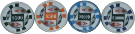 1398NH Poker Chip Design High Numbers (25PC)