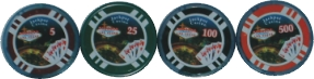 1398V Poker Chip Design Las Vegas (25PC)