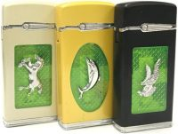 1737A Round Animal Design Green Flame (20PC)
