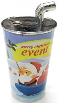 1755 Christmas Cup Design Windproof Jet Flame (12PC)