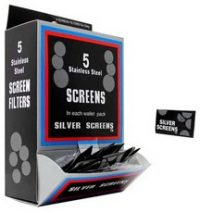 SCREENS Silver Tobacco Pipe Screen Fits All Of Our Tobacco Pipes (BOX)