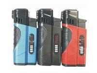 1853M Metallic Quad Torch Lighter W/ Cigar Puncher (12PC)