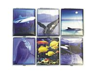 3101L20SEA Sea Designs Wrinkled  Leather Wrapped Holds 20 Cigarettes 100s Size Wrinkled (12PC)