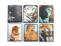 3101L20TIGER Tiger Designs Wrinkled Leather Wrapped Holds 20 Cigarettes 100s Size Wrinkled (12PC)