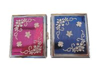 #3101ST20F Studded Flower Designs 100's Size, Holds 20 Cigarettes (12PC)