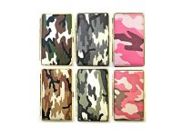 3102G14C Camouflage Design Gold Frame Leather Wrapped Holds 14 Cigarettes King Size (12PC)