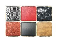 3102G20 Gold Frame Leather Wrapped Holds 20 Cigarettes King Size (12PC)
