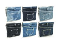 3102L20JEANS Denim Designs Leather Wrapped Holds 20 Cigarettes King Size (12PC)