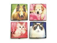 3102L20PETS. Pets Design Leather Wrapped Cigarette Case (12PC)