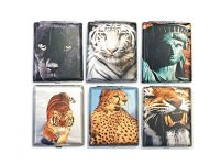 3102L20TIGER Wolf Designs Leather Wrapped Holds 20 Cigarettes King Size