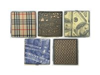 3102M1. Leather Wrapped Metal Cigarette Case (12PC)