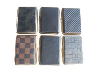 Mixed Designs Leather Wrapped Gold Frame Holds 14 Cigarettes King Size (12PC)