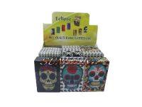 3114CSkull Candy Skull Plastic Cigarette Case King Size, Flip Open (12PC)