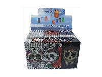 3115CSKULL Candy Skull Designs Plastic Cigarette Case 100s Size, Flip Open (12PC)