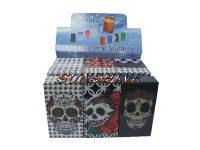 3116CSkull Candy Skull Plastic Cigarette Case King Size, Flip Open (12PC)