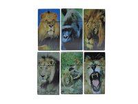 3116D16 Lion Design Plastic Cigarette Case King Size, Push Open (12PC)