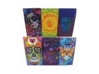 3116M33 Candy Skull Design Holds King Size Cigarettes Push To Open (12PC)