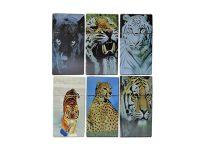 3117D15 Tiger Designs Plastic Cigarette Case 100s Size Push Open (12PC)