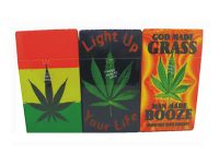3117L1 Leaf Design Holds 100 Size Cigarettes Push To Open (12PC)