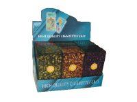 3117M10 Crackle Designs Plastic Cigarette Case 100s Size Push Open (12PC)