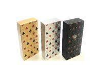3117M22 Studded Casino Design Plastic Cigarette Case 100s Size Push Open (12PC)