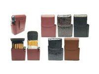 3221. Leatherette Cigarette Case Dispenser; 100s (12PC)