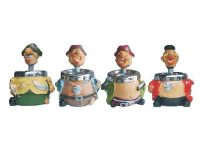 ASH172 Drummer Spin Top Ashtray (4PC)