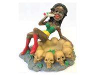 ASH2022. Jamaican Girl Skull Design Resin Ashtray (3PC)