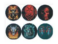 ASHG014 Skull Designs Glow In The Dark Ashtray (6PC)