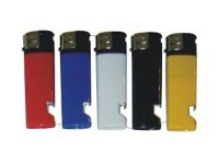DNESBO Your Information Printed On Assorted Solid Color Electronic Refillable Bottle Opener Lighters (350PC) WDR