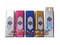 EL-USB-M Metallic Electronic Windproof Lighter W/ USB Charge (20PC)