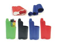 LC-03 3-In-1 Lighter Holder, Snuffer & Bottle Opener; Fits Bic Size (12PC)