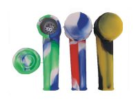 Pip1000 Silicone Pipe Metal Bowl with a cap (24PC)*