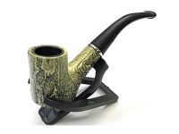 PIP609 5″ Snake Skin Durable Pipe Gift Box, Leather Pouch & Stand (3PC)*