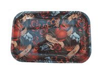 #ROLLTRAYLG2 Large Metal Rolling Tray 6 Mixed Designs (12PC)