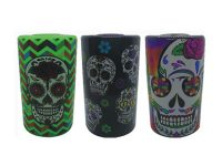 SEALEDCAN1. Candy Skull Design Air Tight Plastic Stash Can (6PC)
