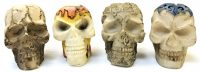 BUTT21-1. Skull Design Resin Snuffer (24PC)