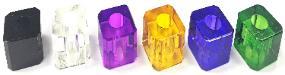 BUTT31. Square Jewel Design Plastic Snuffer (24PC)